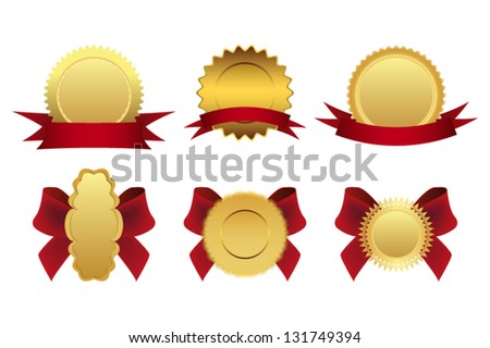 set of quality labels - stock vector