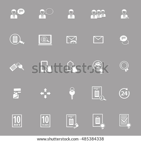set of real estate business icons