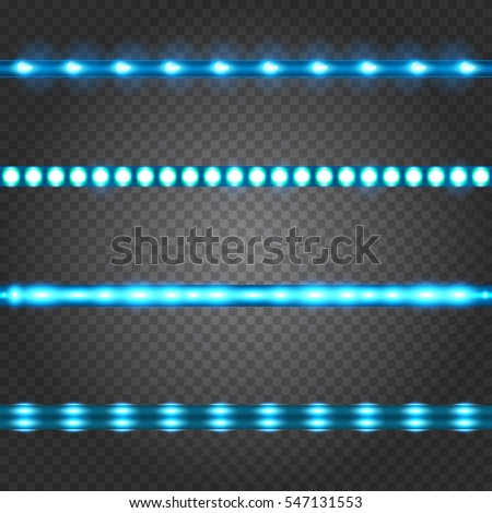 Set of realistic neon or led glowing light stripes on transparent background. Horizontal seamless objects  sc 1 st  Shutterstock & Led Lights Stock Images Royalty-Free Images u0026 Vectors   Shutterstock azcodes.com