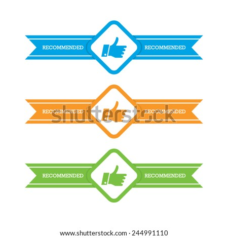 Set of Recommended Ribbons - stock vector
