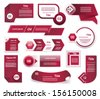 Set of  Red-Violet vector progress, version, step icons. eps 10 - stock vector
