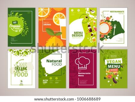 Set Restaurant Menu Brochure Flyer Design Stock Vector 1006688689