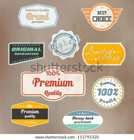 Set of retro badge and labels. Vector - stock vector