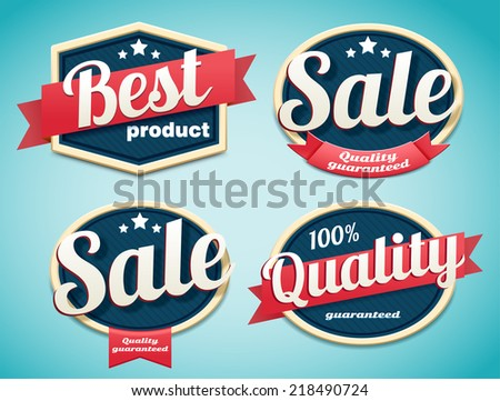 set of retro badges  - stock vector