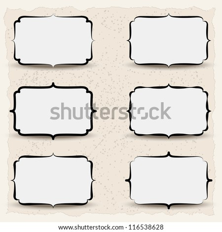 set of retro banners  (vector, eps10) - stock vector