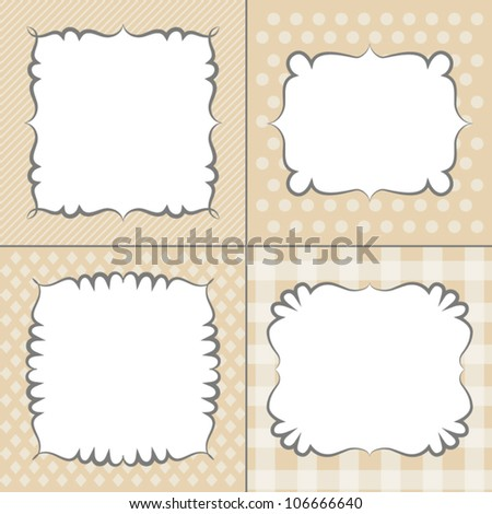 Set of retro frames, vector - stock vector