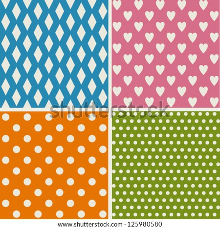 Set of retro patterns - stock vector