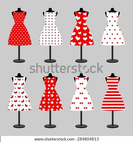 Set 6 Retro Pinup Cute Woman Stock-Vektorgrafik 284804813 – Shutterstock