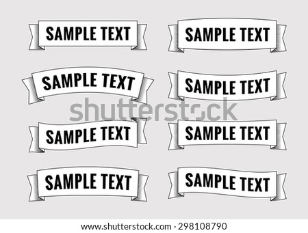 Set of retro ribbon banners. Collection of scrolls elements for design. Vector illustration. - stock vector