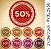 Set of retro sale stamps - stock vector