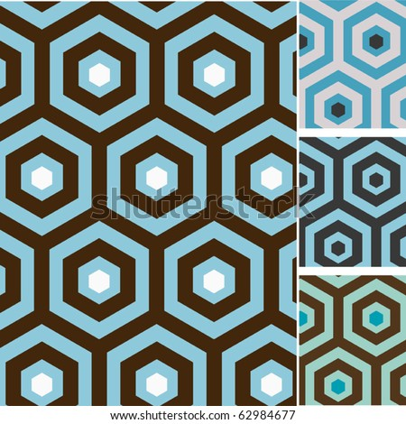 Set of retro seamless vector patterns - stock vector
