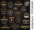 Set of retro vintage badges and label logo graphics