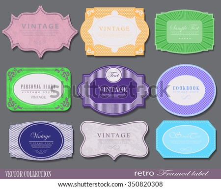 Set of retro vintage styled Premium Quality and Guarantee Labels and sticker