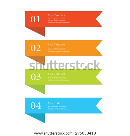 Set of ribbon banners - stock vector