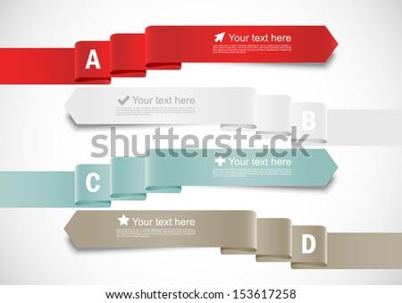 Set of ribbons - stock vector