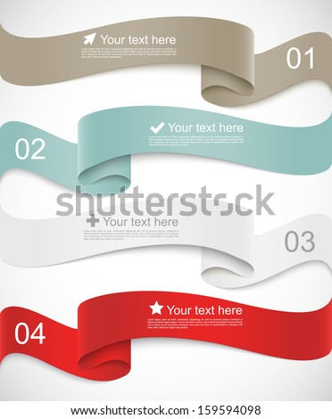 Set of ribbons - stock vector
