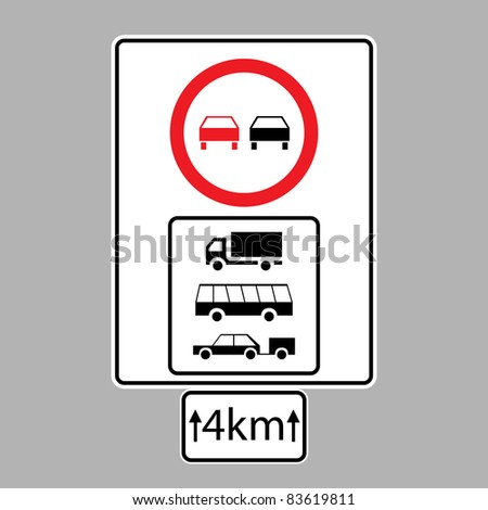 set of road signs - isolated illustration - stock vector