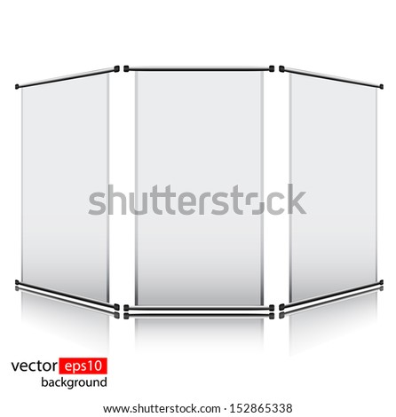 Set of 3 Roll up banners editable  - stock vector