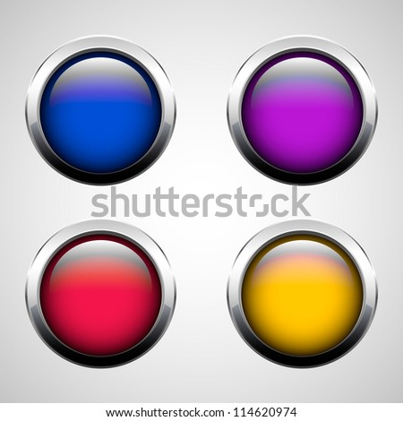 Set of round buttons, eps10 - stock vector