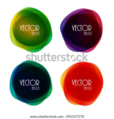 Set of Round Circle Colorful Vector Shapes EPS10 - stock vector