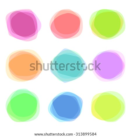 Set of round colorful vector shapes. Abstract vector banners, logo design template.