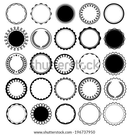 Set of round frames for design. - stock vector