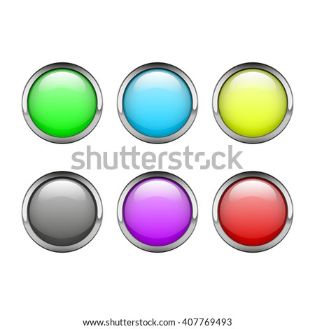Set of round web buttons