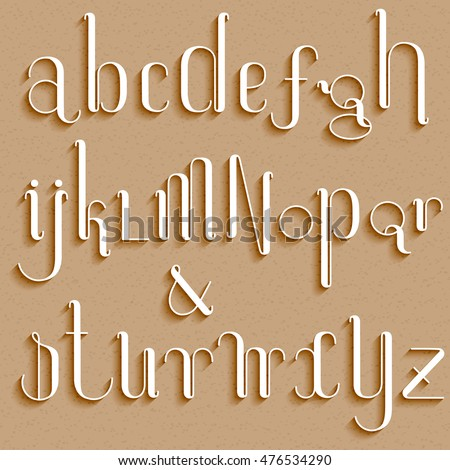 Cardboard font stock photos royalty free images vectors for Alphabet letters cardboard