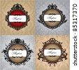 Set of royal vintage frames - stock vector