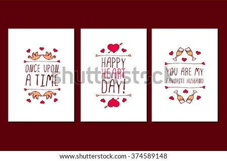 Saint Valentines Day Greeting Card Once Vector 368809274 – San Valentines Cards