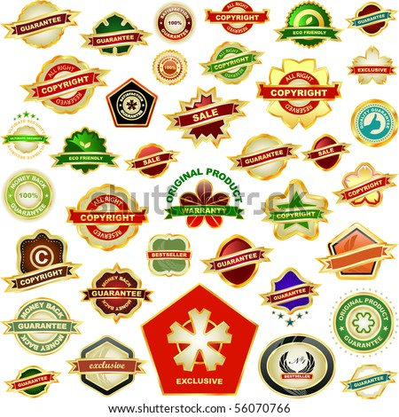 Set of sale labels. Great collection. - stock vector