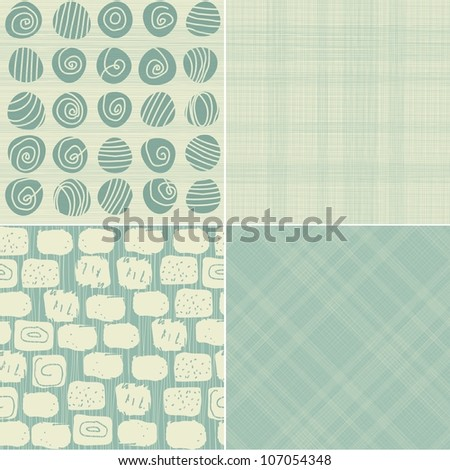 set of 4 seamless backgrounds - stock vector