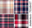 set of seamless checkered vector pattern - stock photo