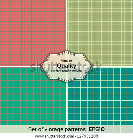 Set of seamless checkered vector pattern. Fashion Designs. Universal: Background, Pattern, Texture. Vector illustration EPS 10