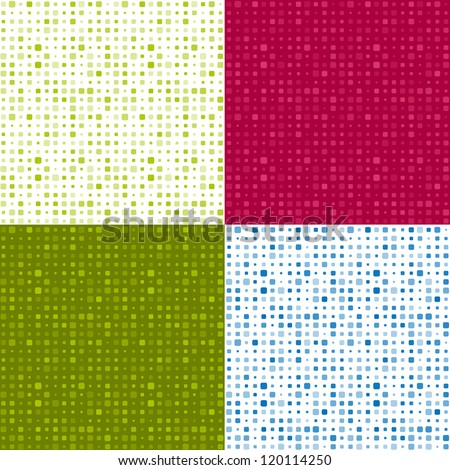 Set of seamless dotted patterns - stock vector
