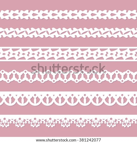 set of seamless paper ribbons