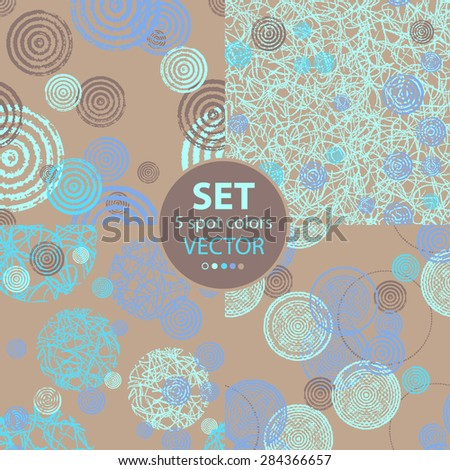 Set of seamless patterns.Vegetable stylized ornament.