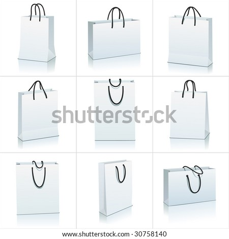 set of shopping bag