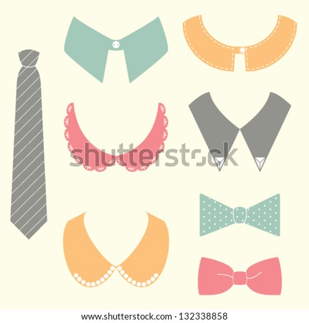 set of shopping fashion icons.vector illustration - stock vector
