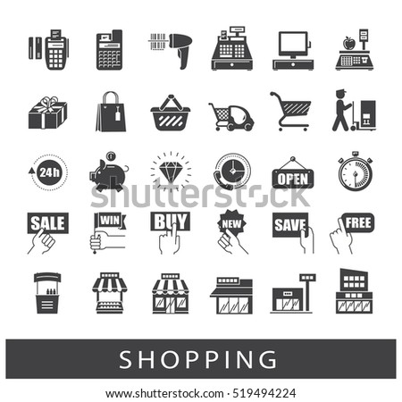 Set of shopping icons. Premium quality symbol collection