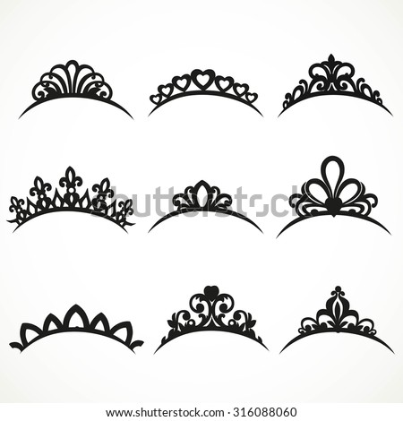 Tiara further Crown Clipart Image 40752 in addition 331967857048 also Template For Mouse Ears likewise Beauty face clip art. on disney crown silhouette