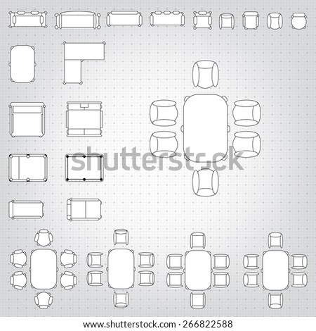 Flat chair icon on sticker floor stock vector 342344480 shutterstock set of simple 2d flat vector icons furniture for floor plan outline on blueprint technical grid malvernweather Choice Image