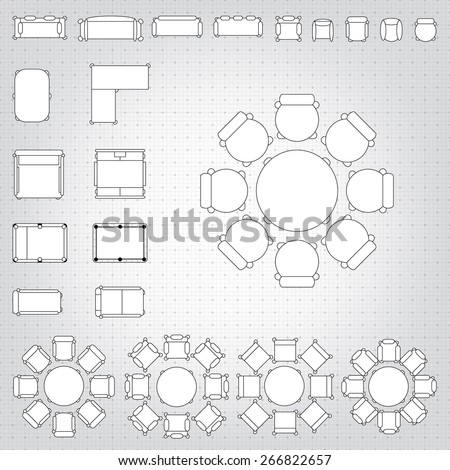 Chair and table stock images royalty free images for Blueprint plan table