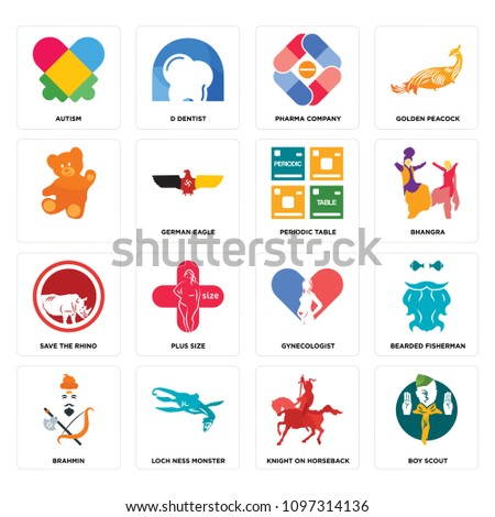 Set 16 simple editable icons such stock vector 1097314136 shutterstock set of 16 simple editable icons such as boy scout knight on horseback loch urtaz Gallery