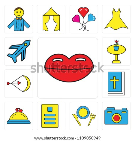 set 13 simple editable icons such stock vector 1109050949 shutterstock