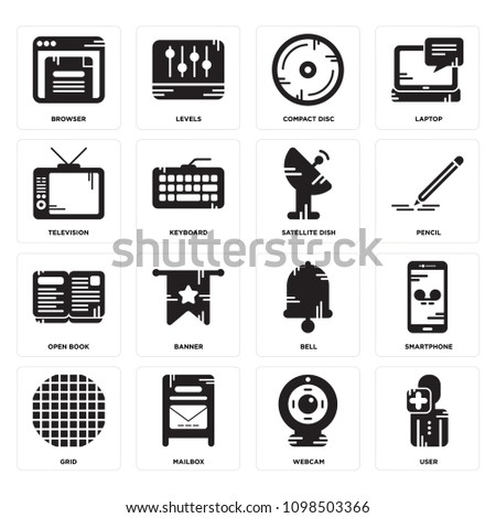 e1077d69763b6 Set 16 Simple Editable Icons Such Stock Vector 1098503366 - Shutterstock