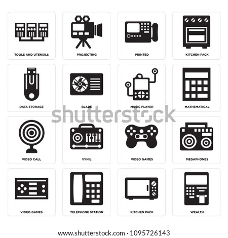 Set 16 Simple Editable Icons Such Stock Vector 1095726143 Shutterstock