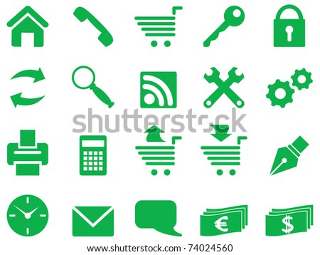 Set of simple icons for decoration and design.