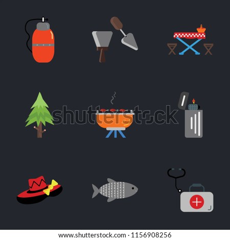 Set Simple Icons Such First Stock Vector Shutterstock - Spruce picnic table