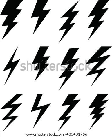 set of simple lightning bolt  sc 1 st  Shutterstock & Set Simple Lightning Bolt Stock Vector 485431756 - Shutterstock azcodes.com